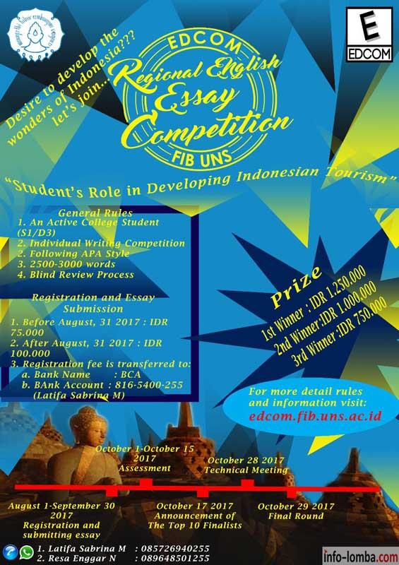 EEF REGIONAL ENGLISH ESSAY COMPETITION 2017