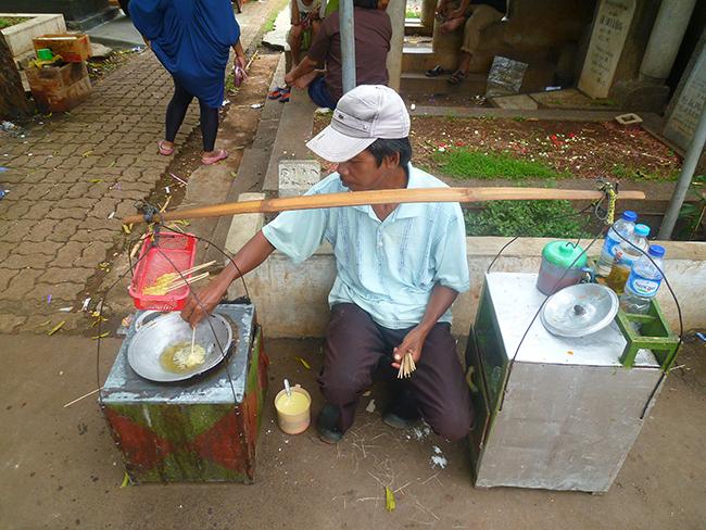 Vendedor de sate de tortilla