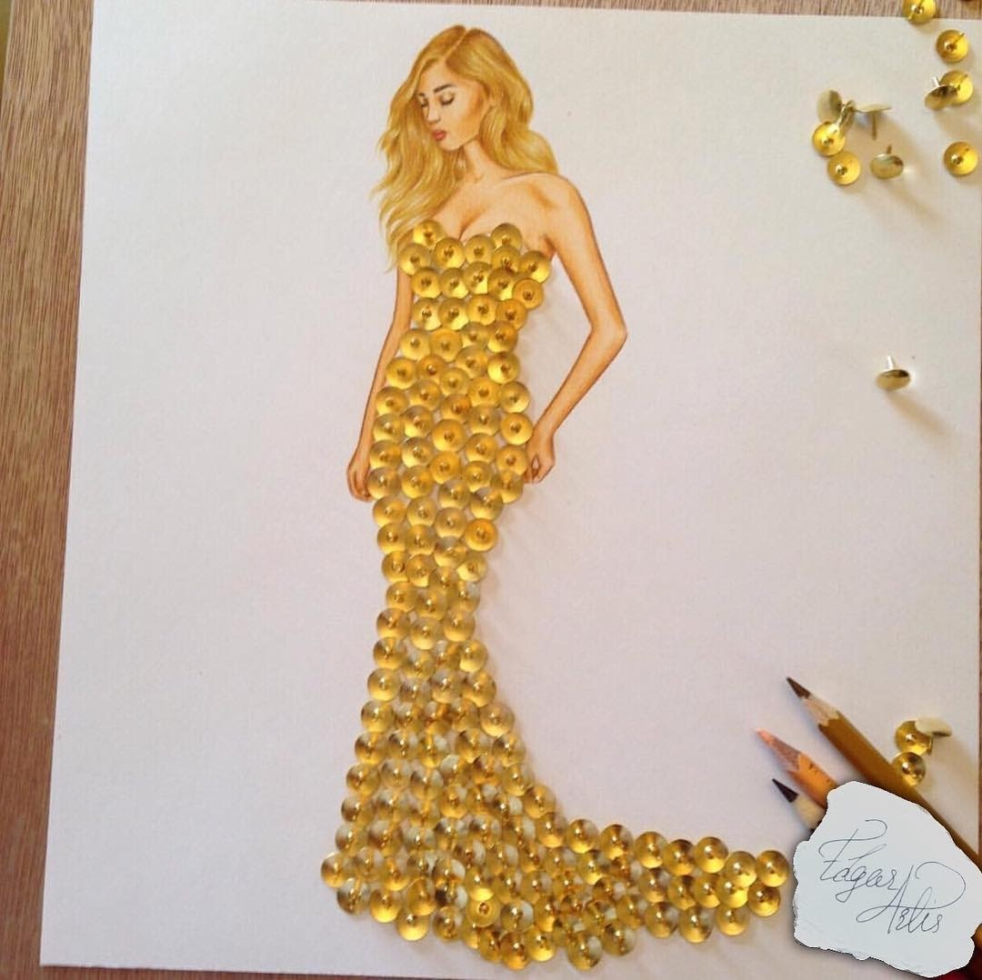 03-Thumb-Tacks-Dress-Edgar-Artis-Multimedia-Drawings-and-Food-Art-Dresses-www-designstack-co
