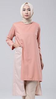 Baju muslim tunik modern nan elegan