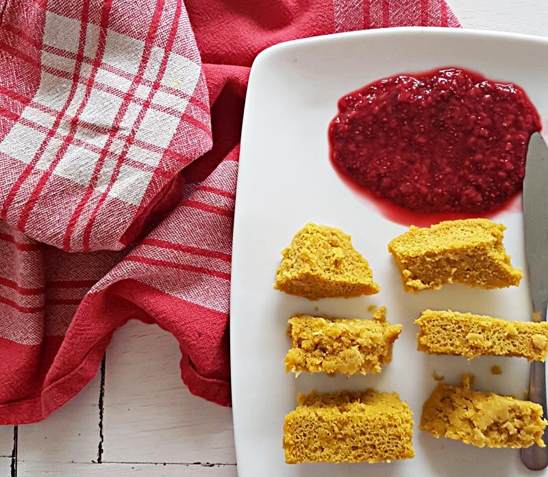 receta facil para hacer con ninos mug cake de mandarina