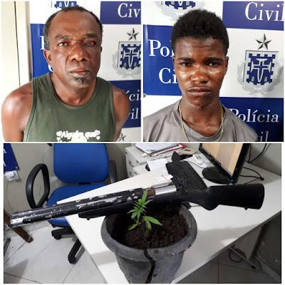 """CASTRO ALVES: Polícia Civil prende """"Beca"""" e """"Barãozinho"""""""