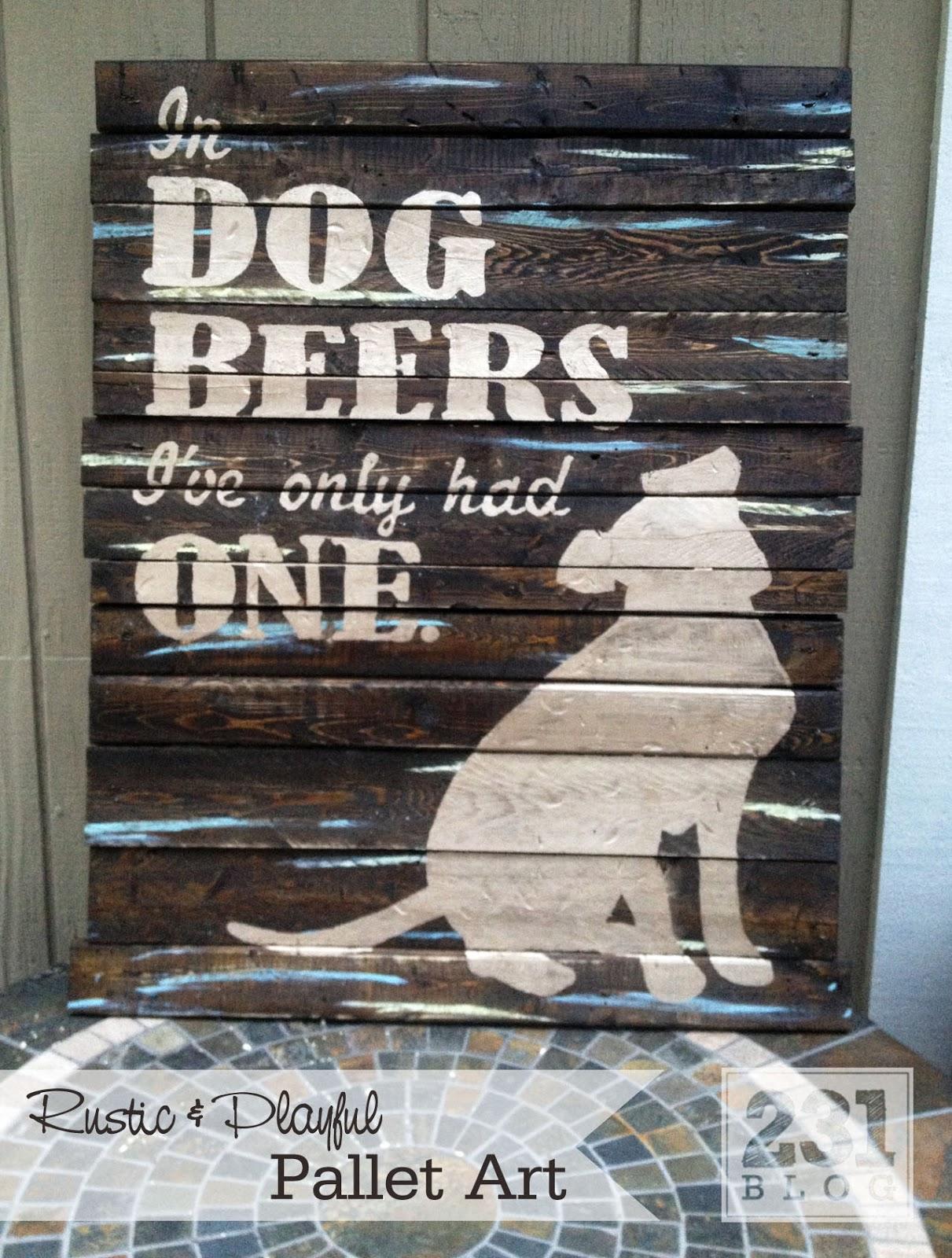 231 Designs Custom Diy Pallet Art For A Couple Of Beer