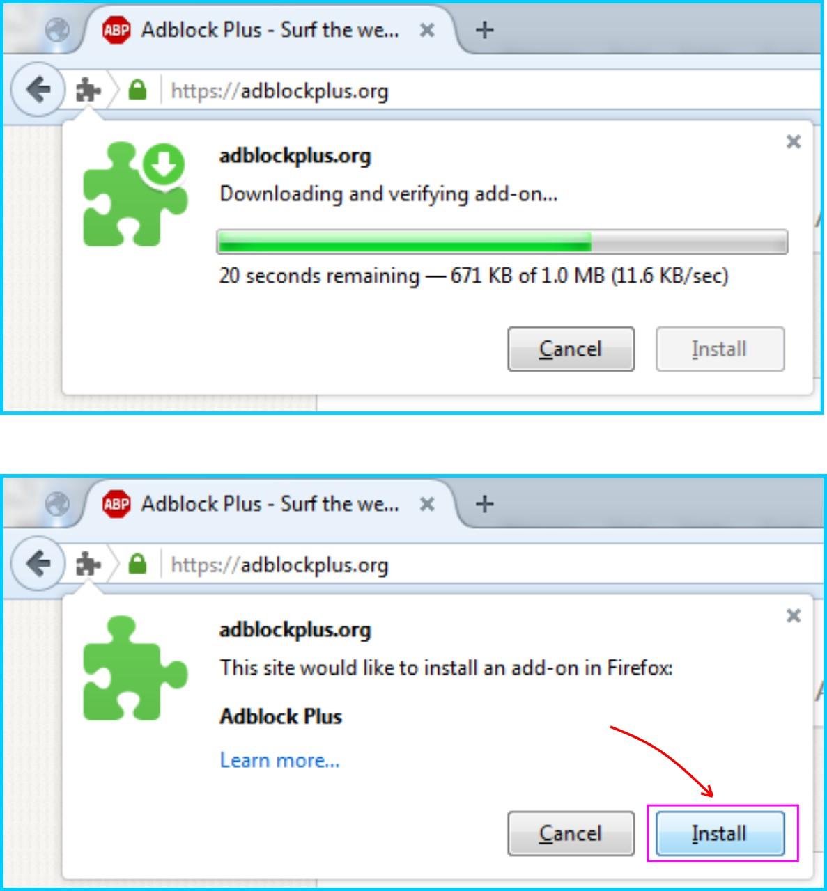 Adblock Plus - Install Addons Adblock Plus Di Browser