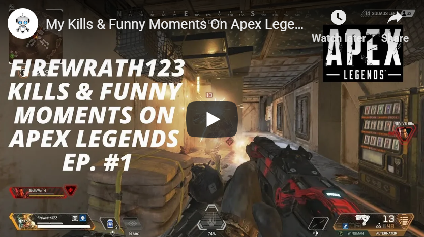 My Kills & Funny Moments On Apex Legends Ep. #1 | Firewrath123