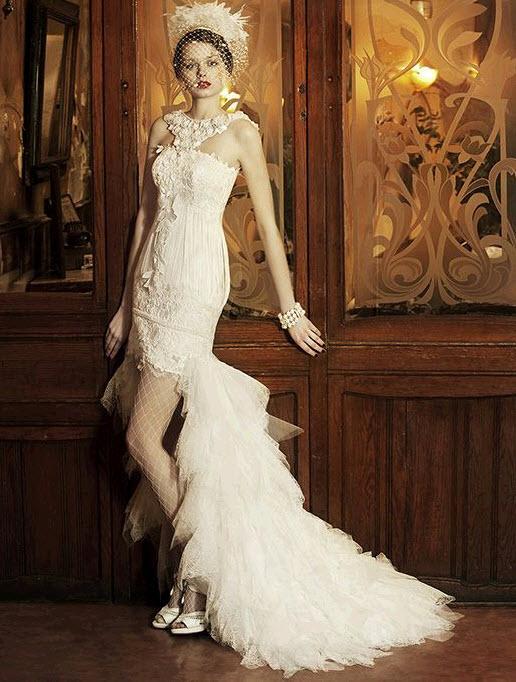 Short Wedding Dresses Long Train The Hairs