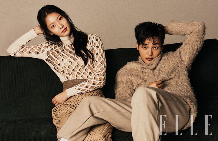 [Magazine] 20190918 Gong Seung Yeon And Kim Min Jae @ ELLE Korea