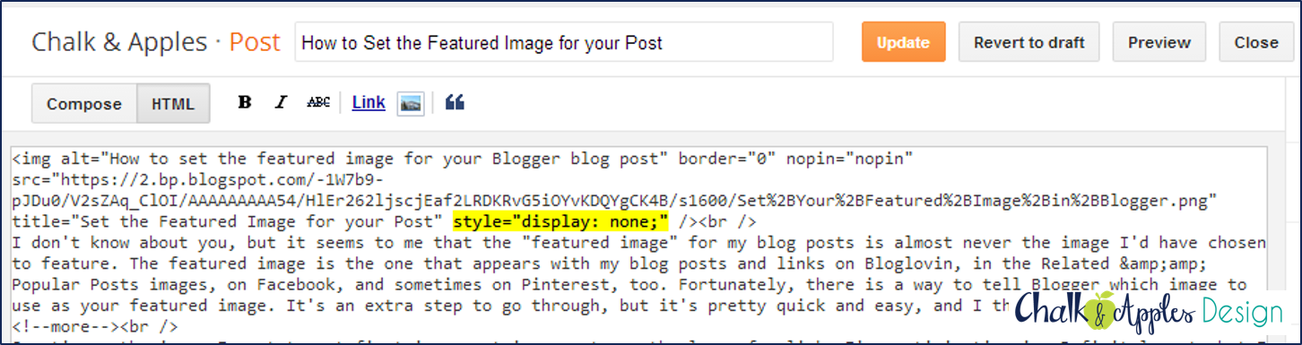 Set the featured image for your blog post