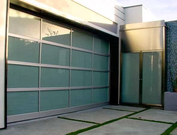 Modern Glass Garage Door picture