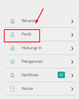 klik menu profile