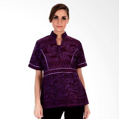 Model Baju Batik Kerja Wanita Modis Terbaru