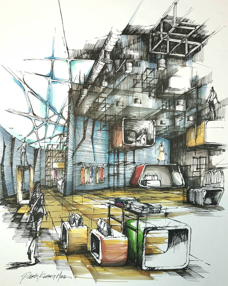 03-Park-Kwang-Hee-Architectural-Sketches-Interior-Exterior-Old-and-New-www-designstack-co
