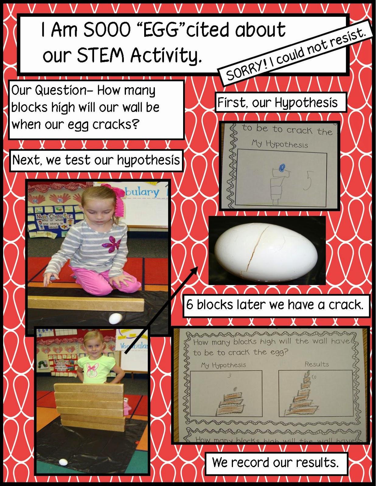 Golden Gang Kindergarten Egg Stem Activity