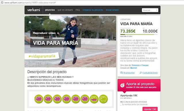 Vida para María - Doménico Chiappe - Contra la desolación - Verkami - MIBers - ÁlvaroGP - el troblogdita