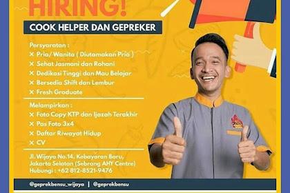 Info Lowongan Kerja Geprek Bensu Jakarta Selatan 2018