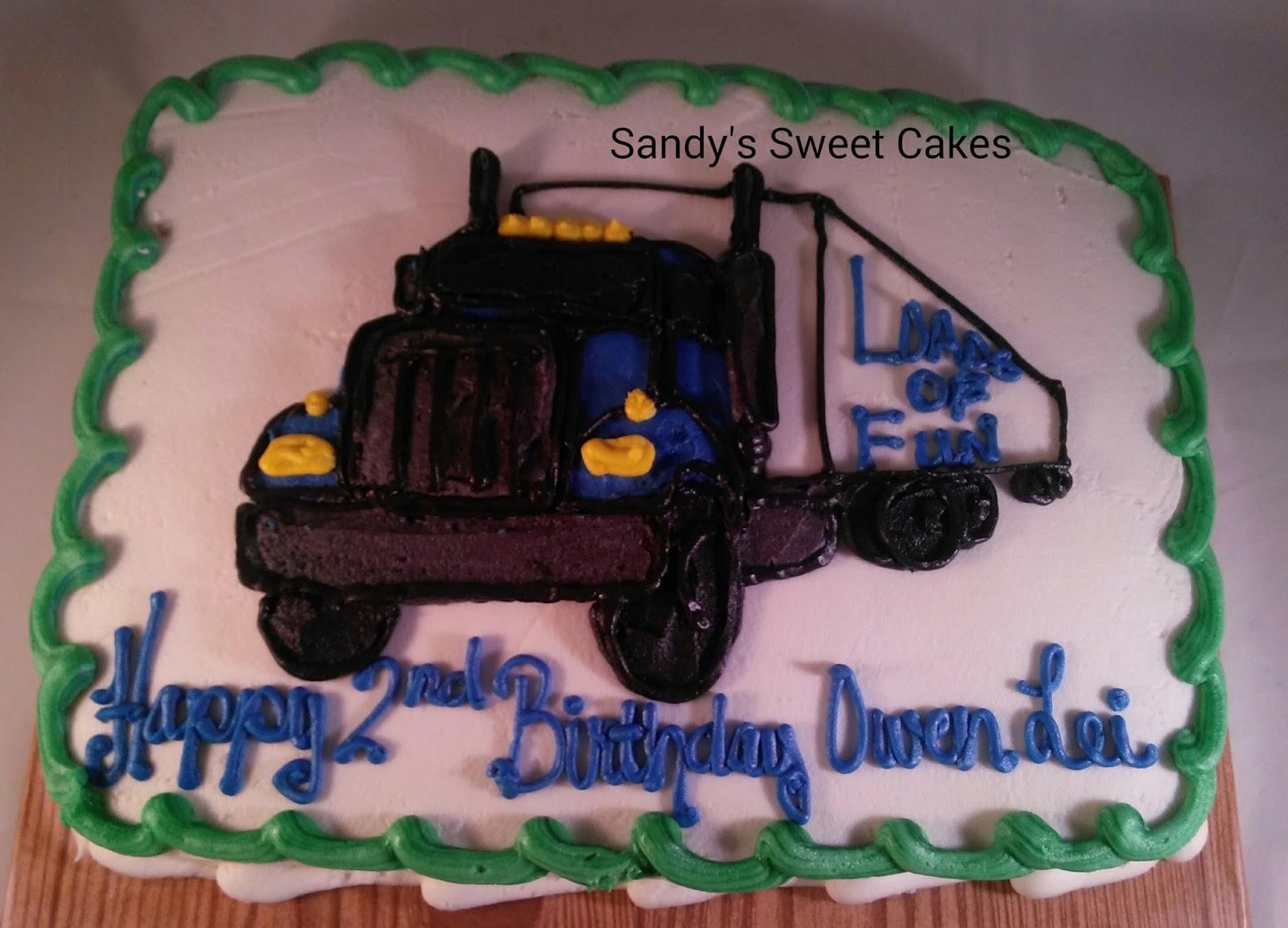 Sandys Sweet Cakes 18 wheeler tractor trailer cake