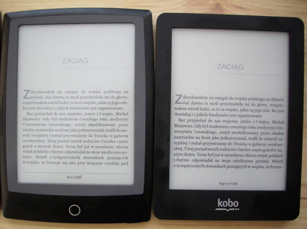Kobo Glo i Cybook Odyssey Frontlight HD - porównanie