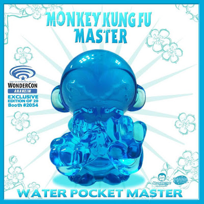 WonderCon 2017 Exclusive Water Edition Pocket Monkey Kung Fu Master Resin Figure by Hyperactive Monkey