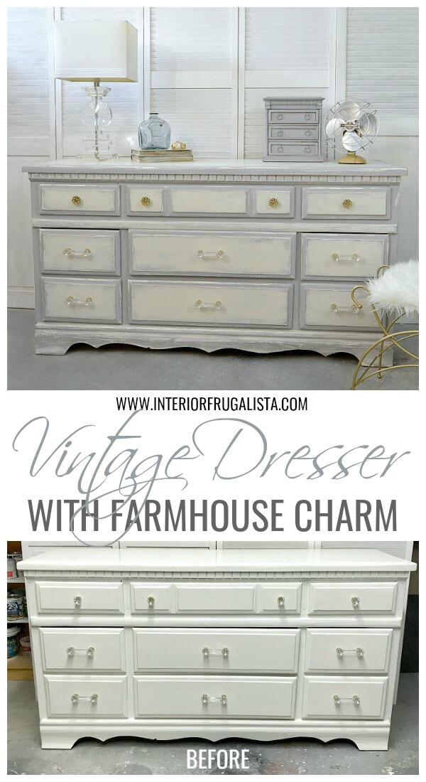 Vintage 9-Drawer Dresser Makeover Before And After
