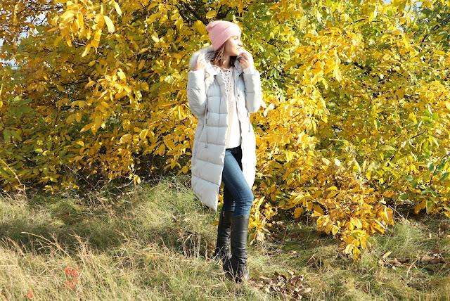 Rosegal Fur Hooded Padded Coat
