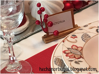 Marcadores de sitio para la mesa de Navidad