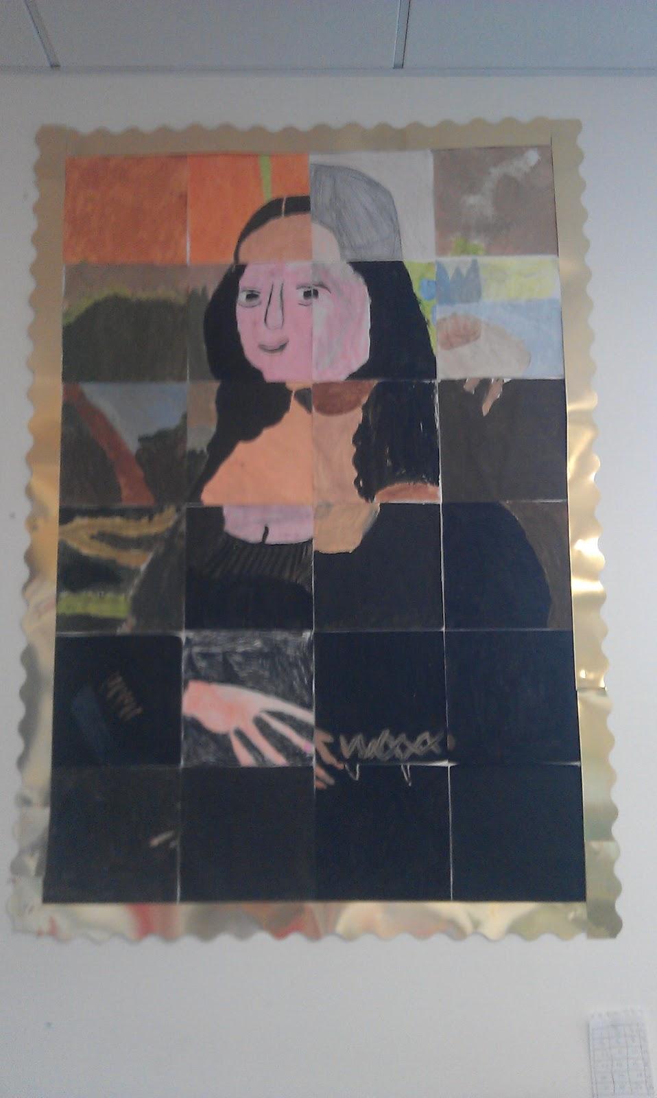 A Crucial Week: Big scale art lesson: Mona Lisa