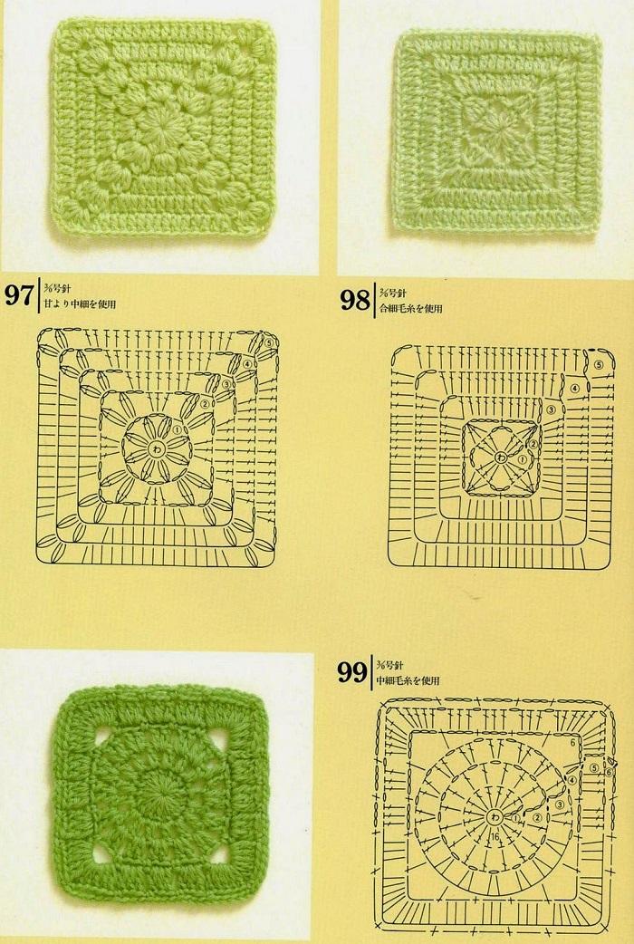Motivos de Crochê Com Gráficos 08