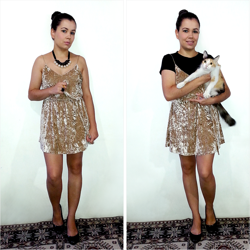 Looks com Slip Dress de Veludo