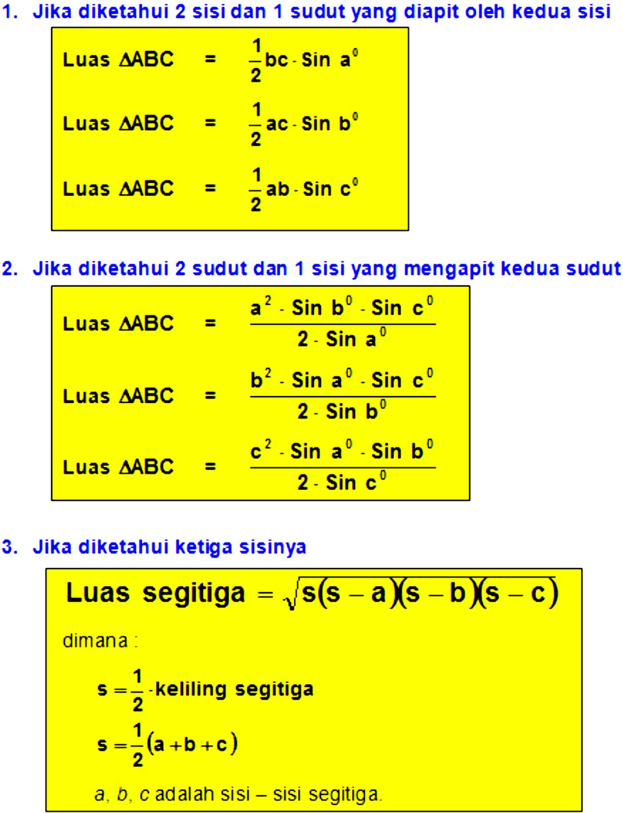 Luas Segitiga Trigonometri : segitiga, trigonometri, Segitiga, Trigonometri
