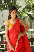 Lasya Cute Beauty in Saree Backless Choli at her Interview ~  Exclusive 077.JPG