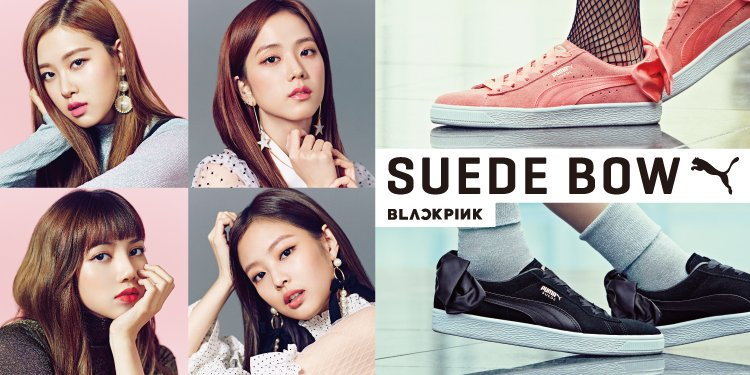 BLACKPINK Members for Puma Suede Bow - YG Family