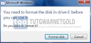 Cara Memperbaiki Flashdisk, Memory Card dan Hardisk Minta Format