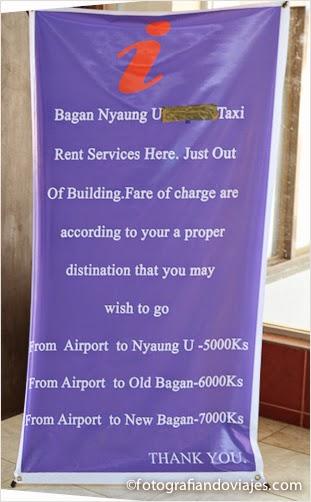 precios taxis bagan 2014