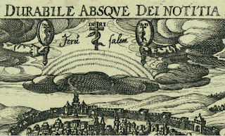 змей на кресте между двух зеркал