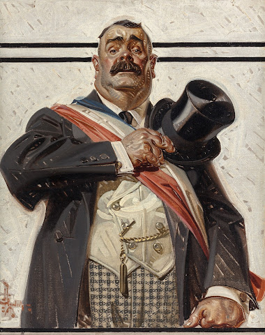 Joseph Christian Leyendecker - The Candidate, The Saturday Evening Post cover, September 18, 1920