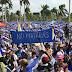 Miles de nicaragüenses marchan por la paz en Nicaragua.