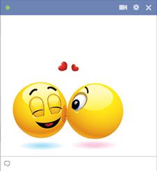 Cheek Kiss Facebook Emoticon