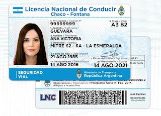 Licencia nacional de conducir categorías