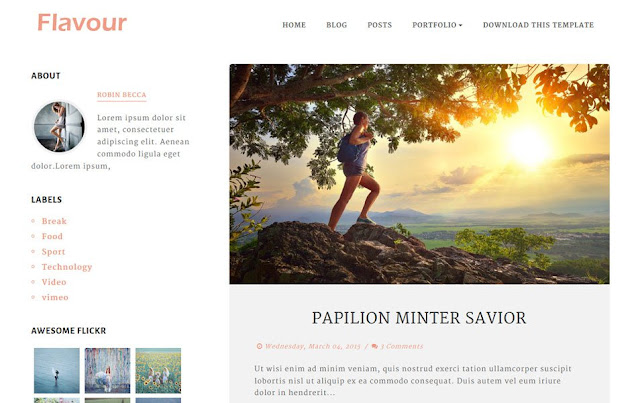 Flavour Responsive Blogger Template