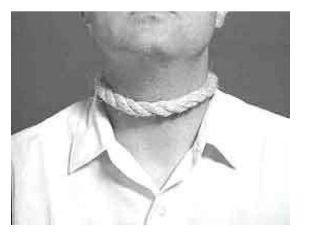Com a corda no pescoço