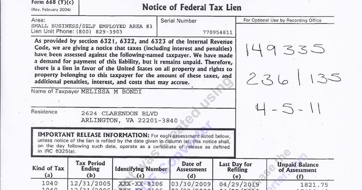 Arlington Yupette Bondi Hit With Big Irs Tax Lien