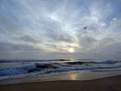 Carlsbad Beach Sunset despite Heavy Cloud Cover by Stacey Kuhns