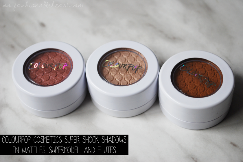 bbloggers, bbloggersca, canadian beauty bloggers, colourpop cosmetics, super shock shadows, supermodel, wattles, flutes, eyeshadow, swatches, fair skin