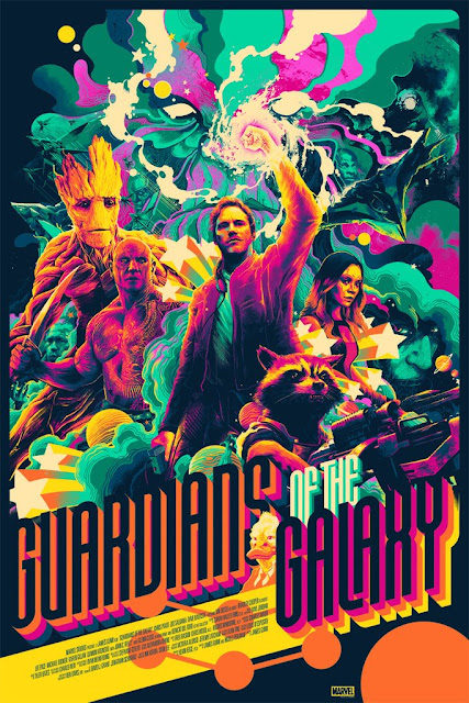 San Diego Comic-Con 2017 Exclusive Guardians of the Galaxy Variant Screen Print by Matt Taylor x Mondo