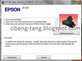 Printer Epson L12+0 Error (Jammed Paper) 4