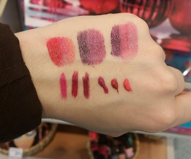 Swatches zur p2 all about berries LE