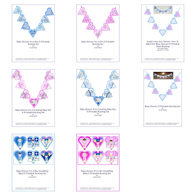 Baby Shower Free E-Printable Buntings