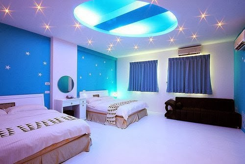 Bedroom Glamor Ideas: Blue Sky Bedroom Glamor Ideas.