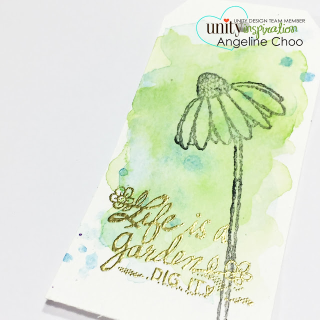 ScrappyScrappy: Watercolor tags #unitystampco #scrappyscrappy #gansaitambi #watercolor #tags #stamp