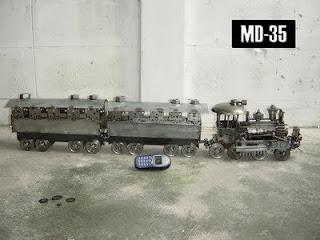 Tren hecho de acero